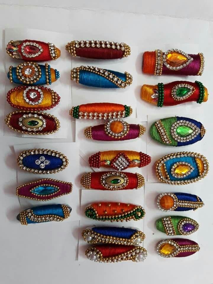 silk thread saree pins
