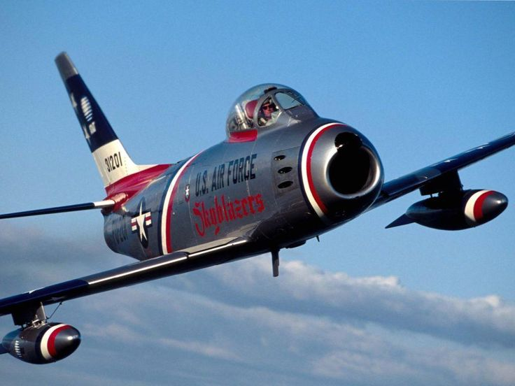 an old F-86
