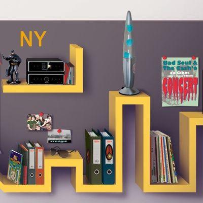 Teen Boys Room Shelves