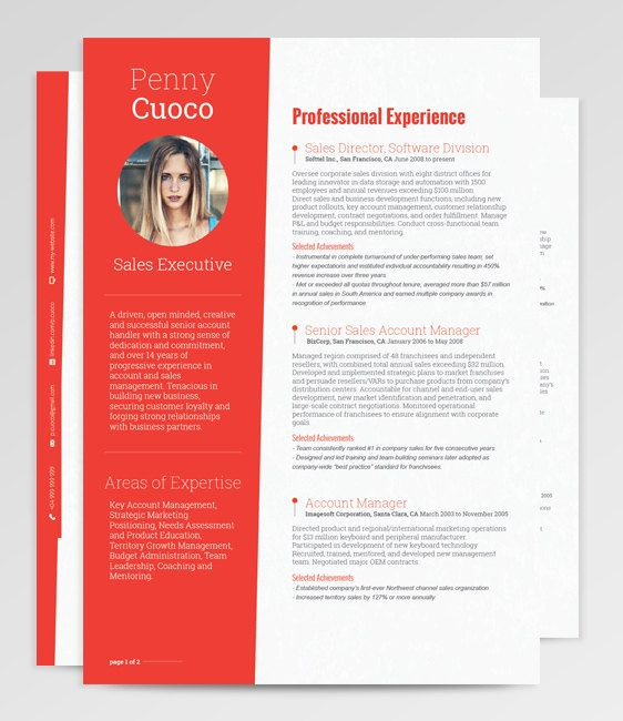 Tucana Resume Template Stands Out Through Simplicity And Subtle Accents.  The Bold Features Blend With