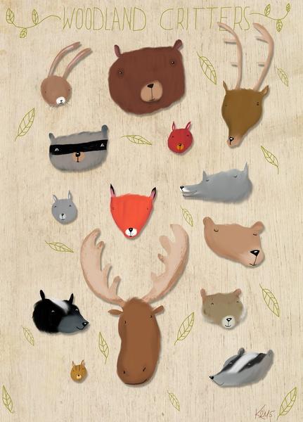 Critters Art Print-Dale Keys