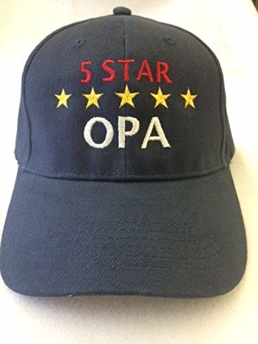 "(H-OPA) ""5-Star OPA"" (German for Grandpa) Hat - 100% Cotton, Navy Blue Adjustable Embroidered in the USA, By G4FF - Hats for Men and Women, the Perfect Gift for the Greatest Grandpa in Your Life G4FF http://www.amazon.com/dp/B00NIGGY4Y/ref=cm_sw_r_pi_dp_mAAiub00TH9JJ"