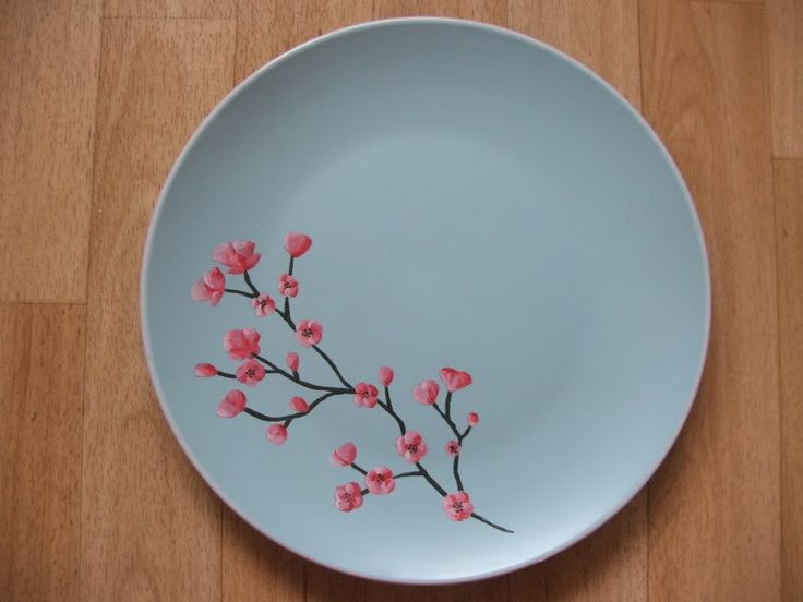 ceramic painting ideas | Ceramic painting - Cherry blossom