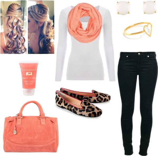 """""""peach outfit"""" by susan12370 on Polyvore"""