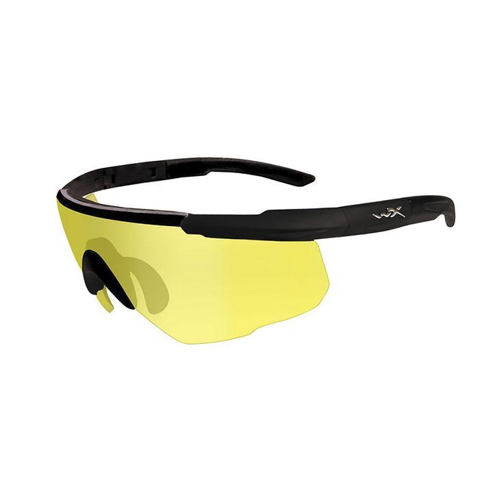 Стрелковые очки Wiley X Saber Advanced, бледно-желтые линзы, светло-желтые линзы