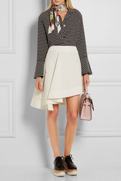 Marni | Asymmetric cotton-blend mini skirt | NET-A-PORTER.COM