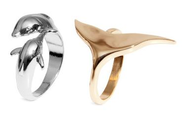 Happy Birthday Gift for My Favorite Teen Fashionista! 2-pack Rings (Dolphin & Whale) @ HM