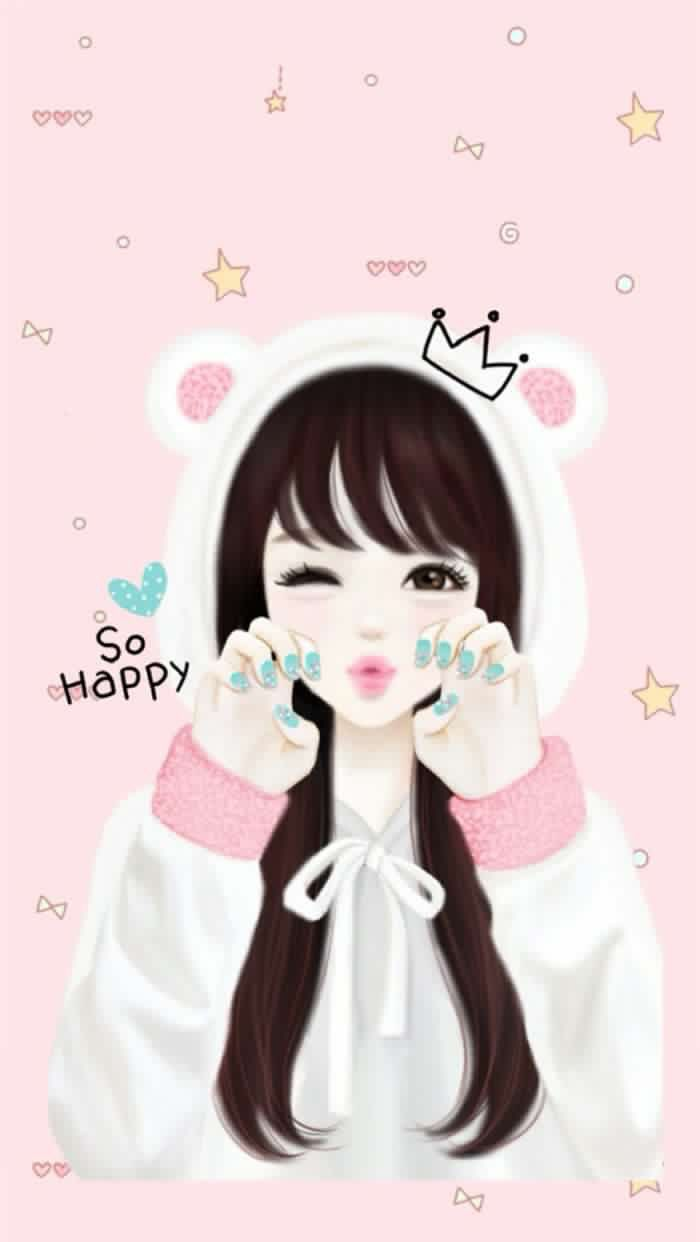 8 best cartoonish cute wallpapers images on pinterest - Best girly anime ...