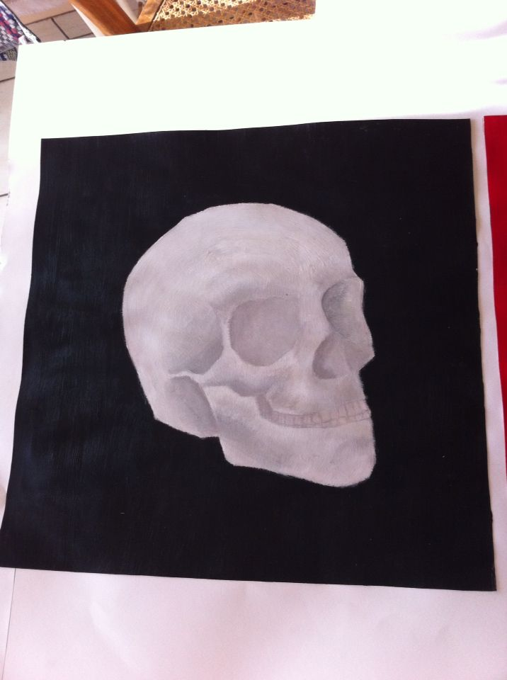 Crâne peinture acrylique