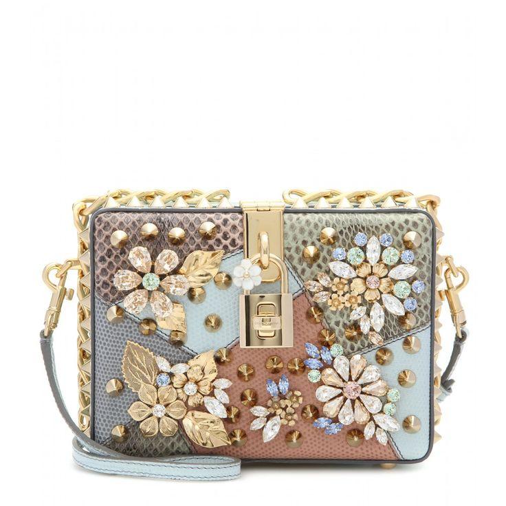 Dolce & Gabbana - Dolce embellished caiman leather box clutch - mytheresa.com