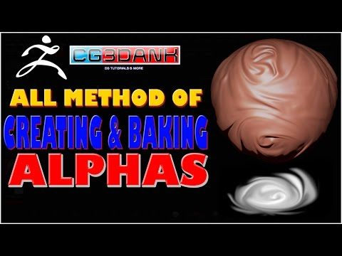 ZBRUSH TUTORIAL_HOW TO MAKE ALPHA IN ZBRUSH (ALL METHODS) - YouTube
