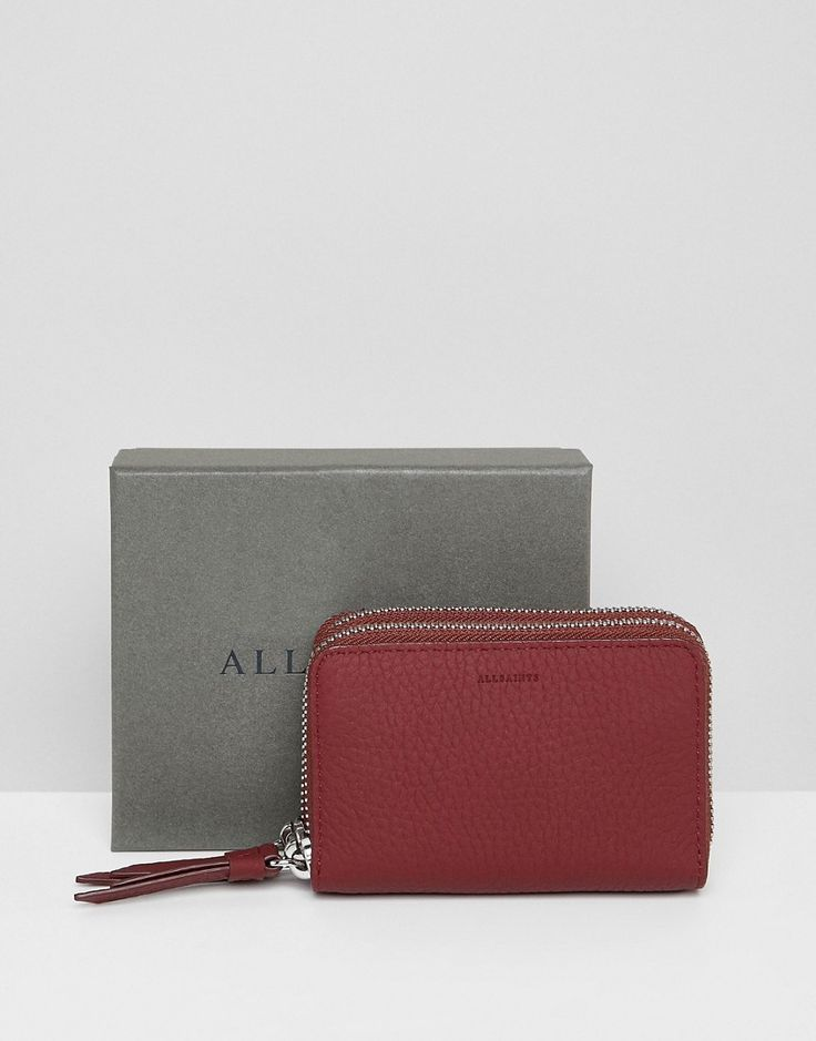 ALLSAINTS FETCH PURSE IN LEATHER - RED. #allsaints #