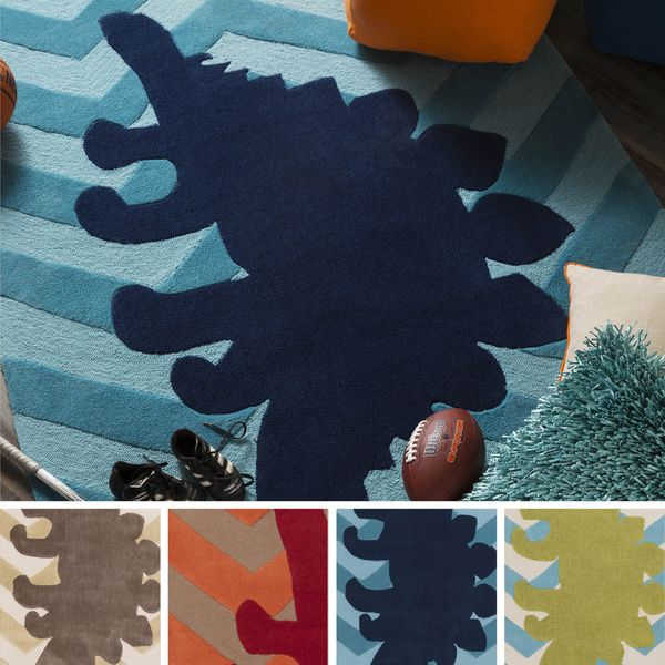 Hand-Tufted Dinosaur Geometric Polyester Rug (5' x 8') | Overstock.com Shopping - The Best Deals on 5x8 - 6x9 Rugs