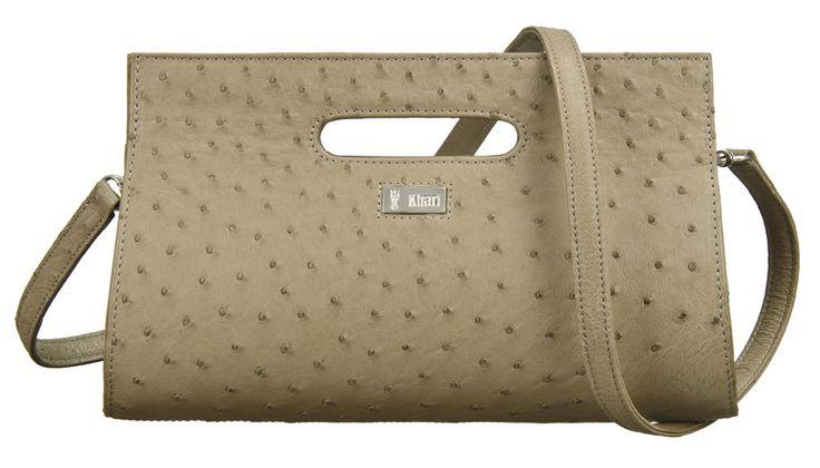Khari Bag Cannes / Material Ostrich Leather / Dimensions: w28 x h17 x d5