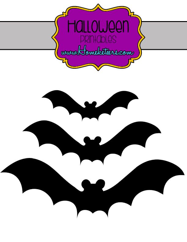 free halloween printables cut out these fabulous bats to decorate your walls windows
