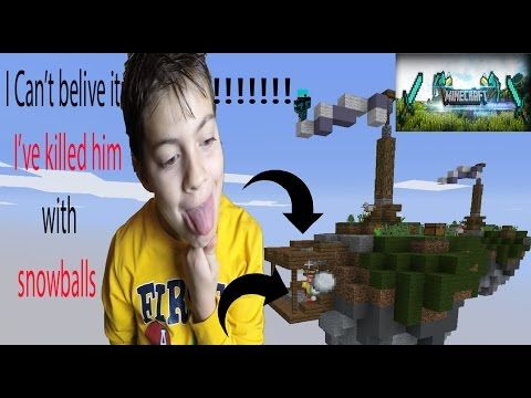 Skywars - I KILLED HIM WITH SNOWBALLS - Minecraft skywars