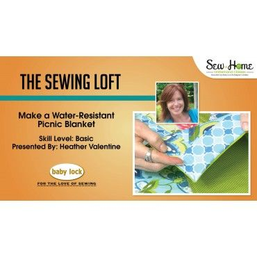 make a picnic blanket with the sewing loft
