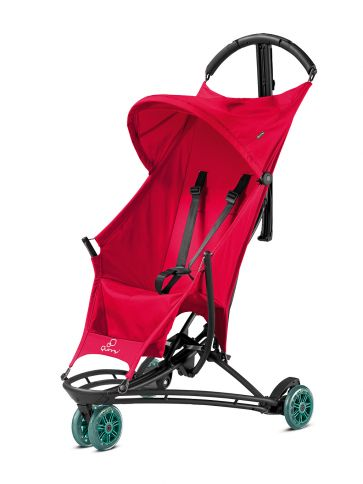 Quinny Yezz Buggy Bold Berry - Imagine a buggy so light it can almost fly. The Yezz comes close. The feather light buggy – only 5 kg –  features a lightweight frame with shoulder strap and folds to a compact size. It is a breeze to carry while have both hands free perfect for parents that live in the city and love to travel, as many airlines allow the Yezz as carry-on luggage. From just £173.99 at www.Kiddisave.co.uk!