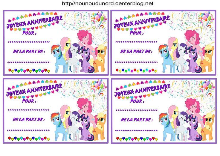 anniversaire etiquettes cadeaux et invitations little pony pour les anniversaires des enfants. Black Bedroom Furniture Sets. Home Design Ideas