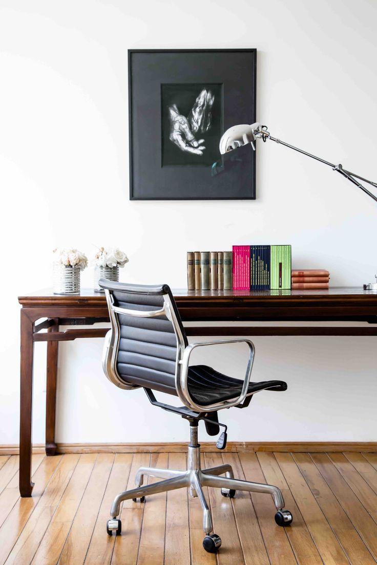 Maisonlist mesa de madera para escritorio de oficina con silla moderna dan el toque perfecto de serenidad y modernidad juntos