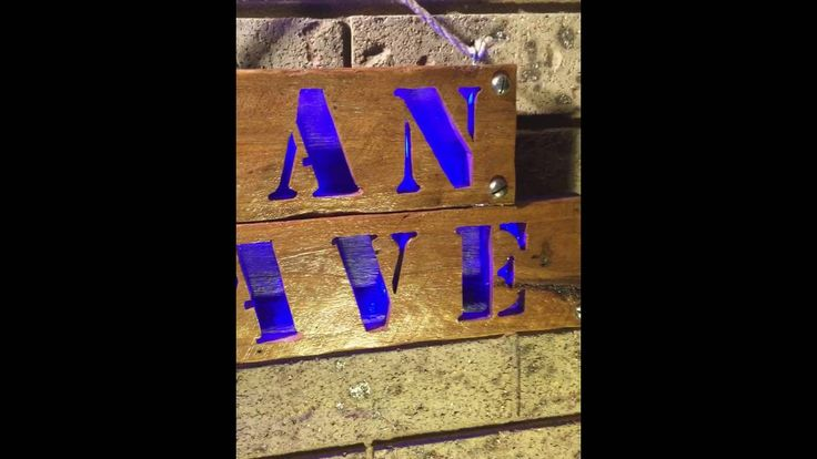 Man Cave Wood Sign with LED #mancave #woodsignaustralia #mancavedecor #mancavewoodsign