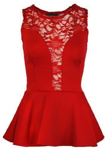 The Orange Tags Ladies Mesh Lace Trim Peplum Party Top Womens Sleeveless Bodycon Mini Dress The Orange Tags, http://www.amazon.co.uk/dp/B00I98YGH8/ref=cm_sw_r_pi_dp_80Cgtb1D41YQF