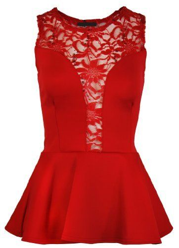 The Orange Tags Ladies Mesh Lace Trim Peplum Party Top Womens Sleeveless Bodycon Mini Dress The Orange Tags, http://www.amazon.co.uk/dp/B00I98YGH8/ref=cm_sw_r_pi_dp_80Cgtb1D41YQF