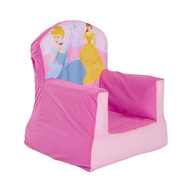 Disney Princess Knusse stoel  Zak lekker onderuit voor de TV in deze knusse Disney Princess stoel. Met een mooie afbeeldingen van de beroemde Disney prinsessen Belle en Assepoester.  EUR 29.99  Meer informatie