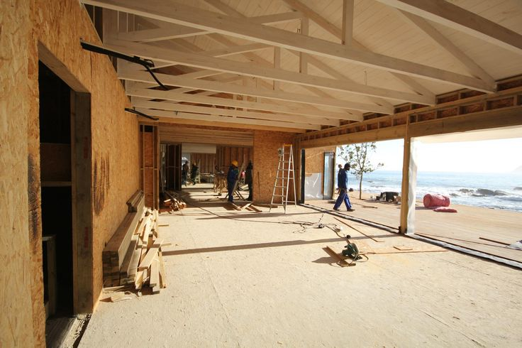 The main lodge is taking shape - dining room is well under way! We are on track to reopen on November 1st!