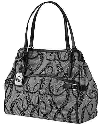 chloe elsie mini shoulder bag - Ralph Lauren Peyton Jacquard Satchel Black - http://bags.bloggor ...