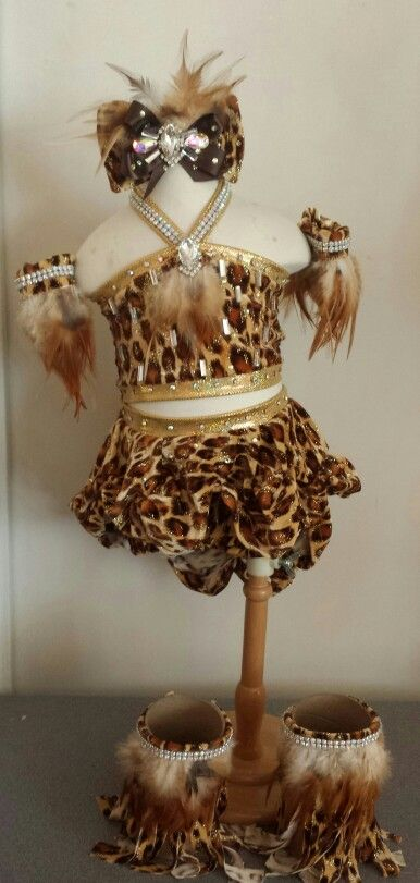 Royalty Designs beauty Pageant outfit of choice.  Jungle wear.  Www.royaltydesigns.net