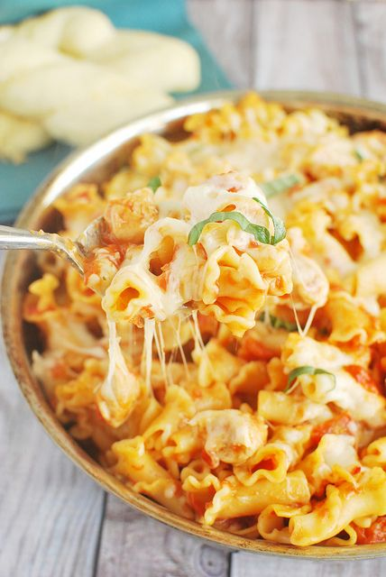 Chicken Parmesan Baked Pasta is a quick and delicious weeknight dinner.