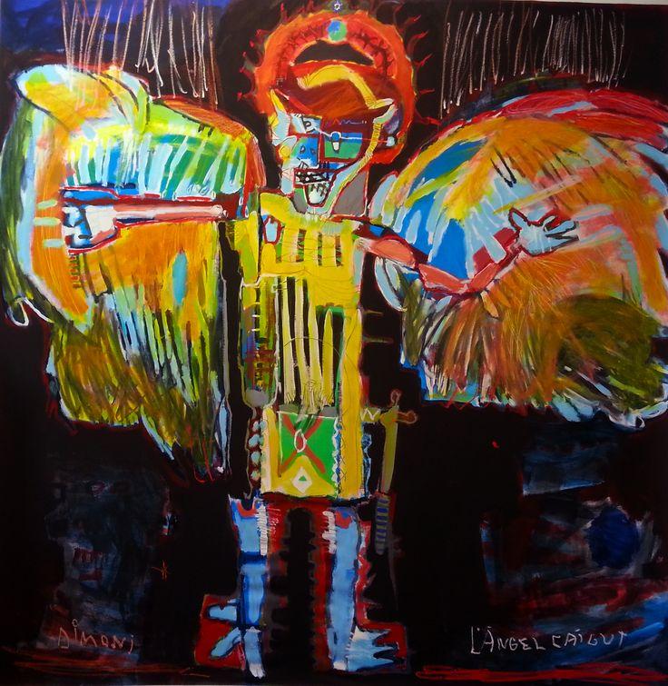fallen angel (202 x 200 cm)