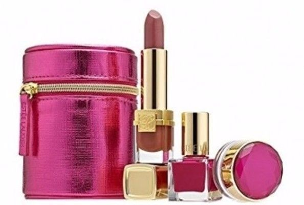 ESTEE LAUDER nails&lips GIFT set LIMITED EDITION free shipping pink dramatic  887167121621 | eBay