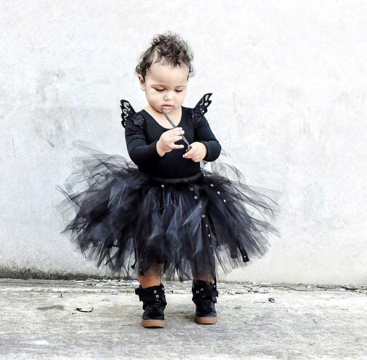 LIL' URBAN PRINCESS . For the princess in your life with more swag than the average   www.lilmr.com.au #girlsfashion #kidsfashion #kidsootd #streetwear #urban #tutu #streetstyle #monochrome