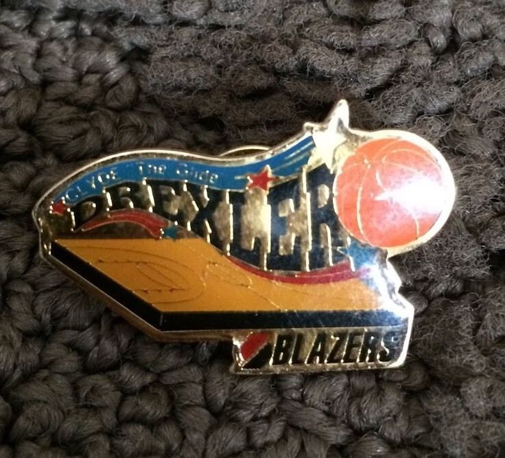Vtg 1991 NBA Portland Trail Blazers Clyde The Glide Drexler Lapel Pin-Fast Ship