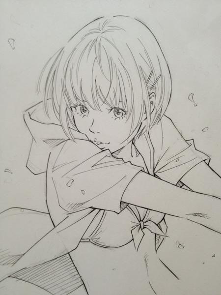 Twitter / @#EISAKUSAKU : アイドルグラビア風 構図。 #Sketch