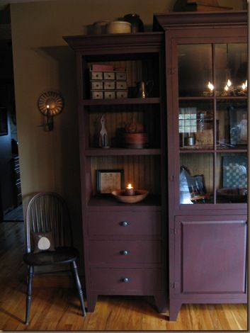 Red Primitive Hutch Love This