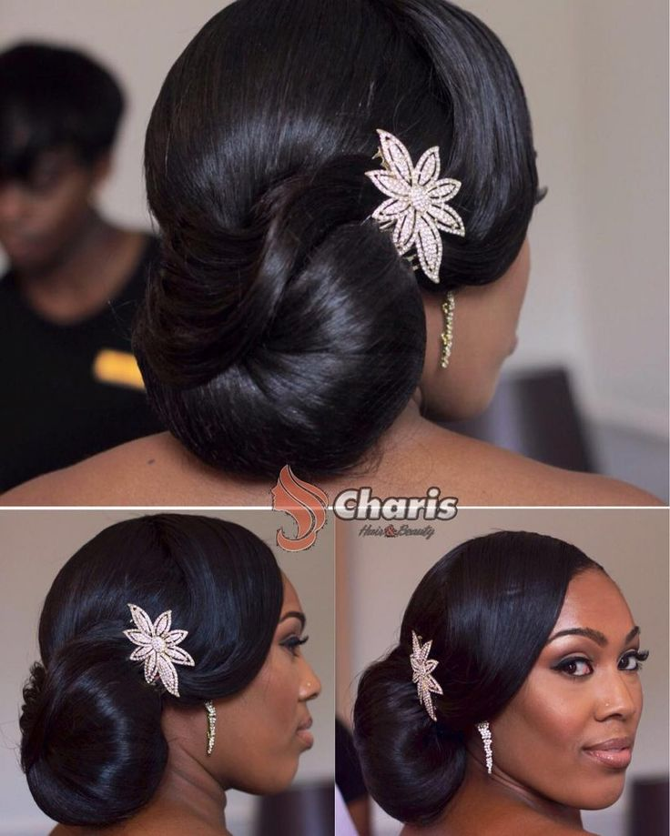 Black Wedding Hairstyles 363 Best Bride'sbridal Party Hair Do'smake Upimages On