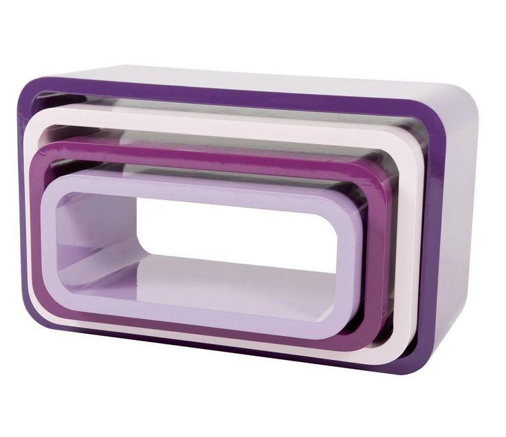 Ovale hyller fra Sebra, blackberry 4 stk | Sprell - Pedagogisk riktige leker