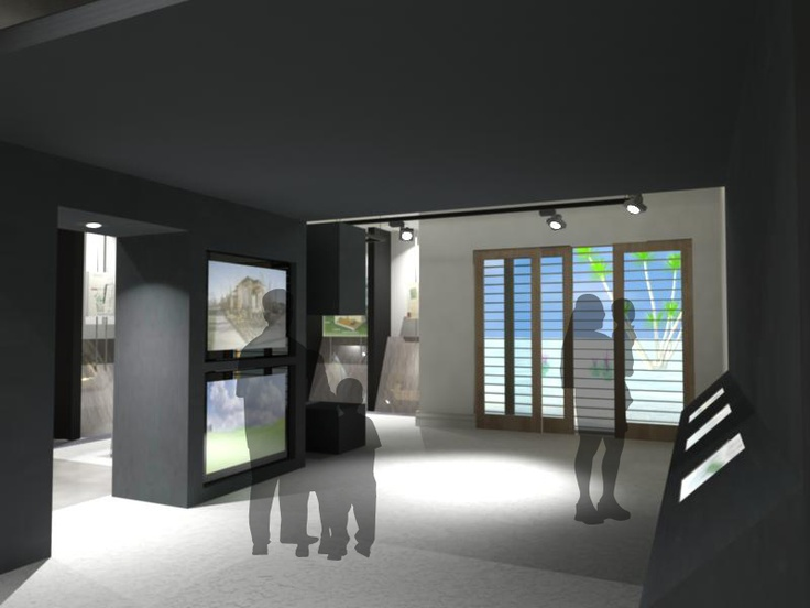 Interactive Exhibit Space in Garage of Sustainable Design Demonstration Home