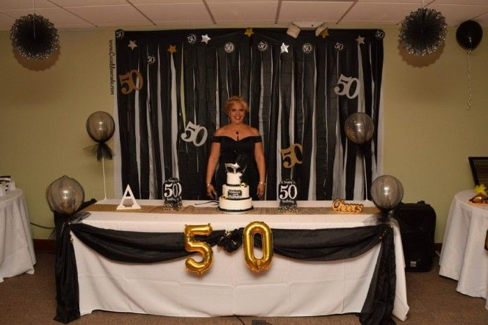 1001 50th Birthday Party Ideas For Meeting Your Half A Century In Style 50th Birthday Themes 50th Birthday Party Ideas For Men Cake Table Decorations Birthday