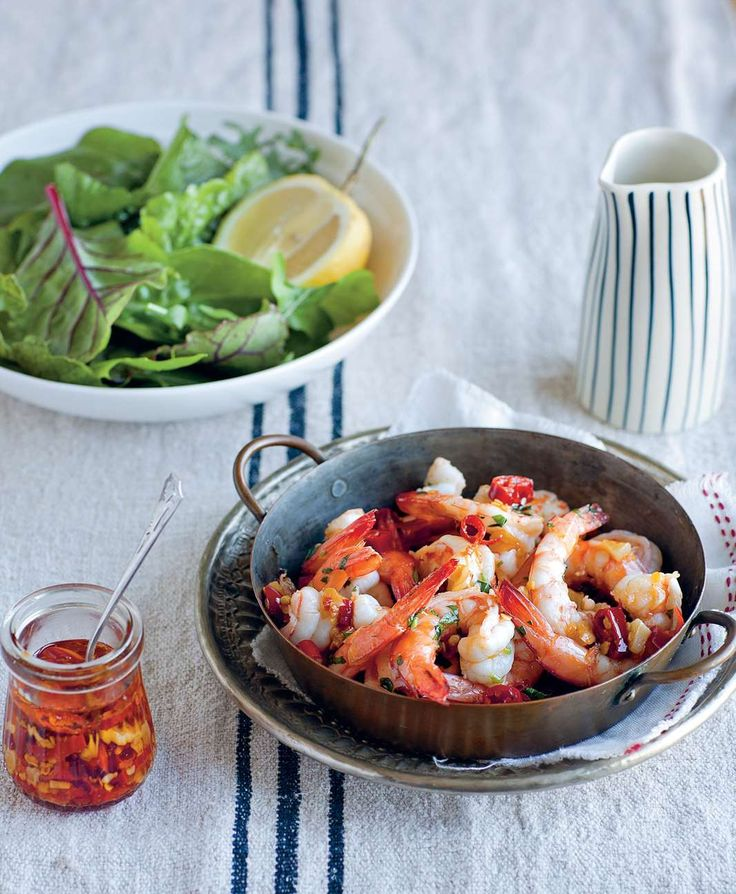 Garlic chilli prawns by Sevtap Yüce from Turkish Flavours | Cooked