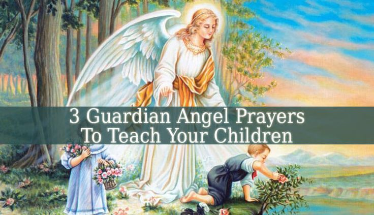 These 3 Guardian Angel Prayer examples are easy and playful. Repeat these prayers every morning and night with your children. They will learn them easily.
