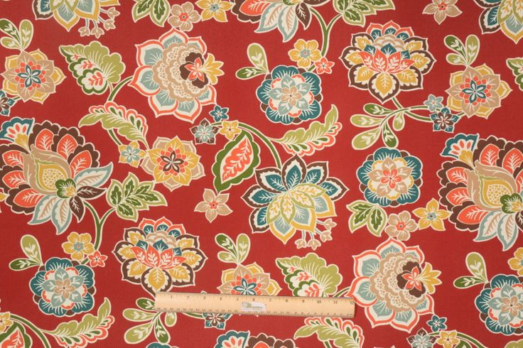 Richloom Solarium De Jana Printed Poly Outdoor Fabric in Sangria $6.95 per yard