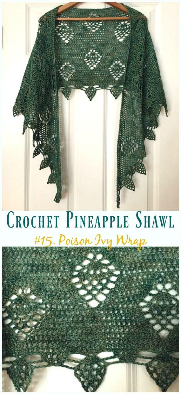 Crochet Pineapple Shawl Free Patterns Crochet Shawl Patterns