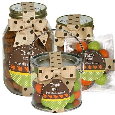 Personalized  Autumn Leaf Favors or Gifts: Autumn Leaves, Autumn Ideas, Studios Thanksgiving, Leaf Favors, Stationery Studios, Cookies Gifts, Hostess Gifts, Gifts Wraps Ideas For Autumn, Autumn Leaf