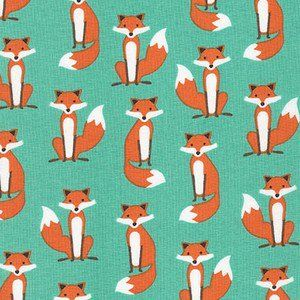 Lots o' foxes in this collection! Andie Hanna - Fabulous Foxes - Fabulous Foxes in Aqua