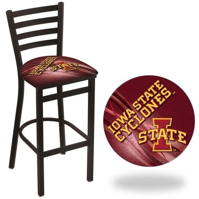 Iowa State Cyclones D2 Stationary Ladder Back Bar Stool. Visit SportsFansPlus.com for Details.