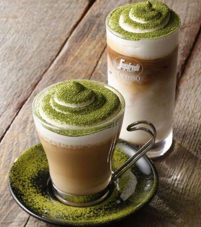 Zielone latte od Segafredo.
